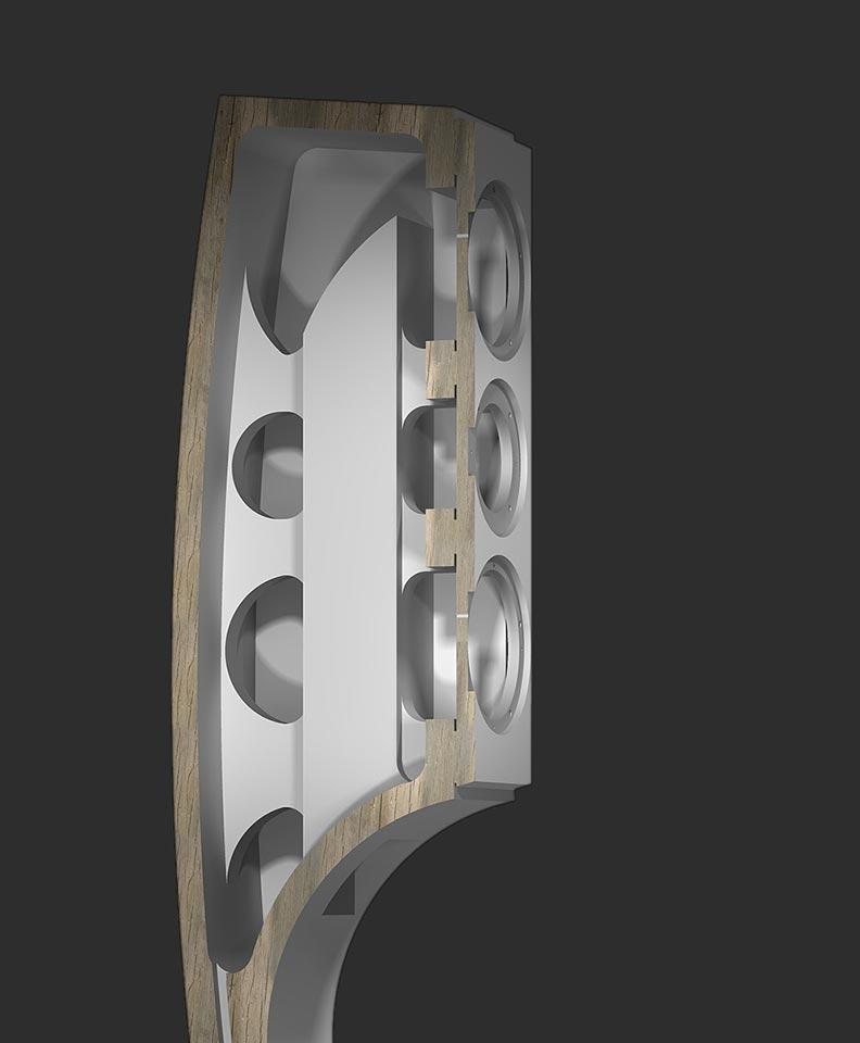 Reezoldini Cinema 3FS speaker system